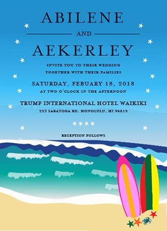 wedding invitations - Seashore Wedding by Onie