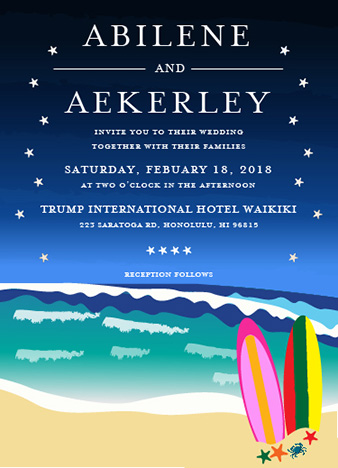 wedding invitations - Seashore and surfing by Onie