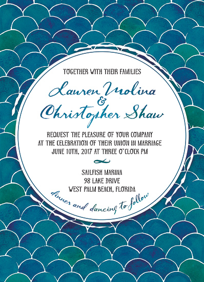 wedding invitations - Undersea Wedding by Shelby Burch