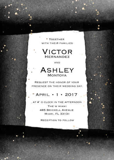 wedding invitations - Black and Gold Wedding Invitation by Printaholics