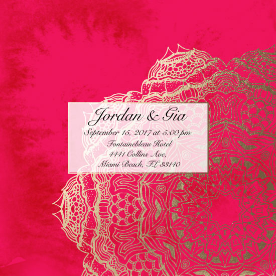 wedding invitations - Mandala Wedding Invitation by Printaholics