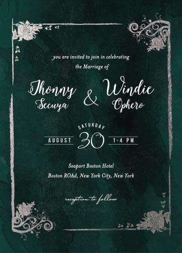 wedding invitations - Grunge by Elvis John VIllarin
