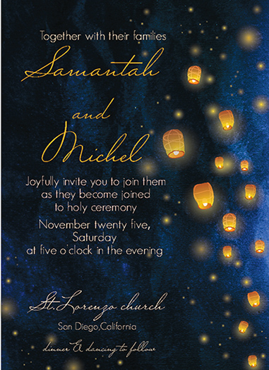 wedding invitations - light of love by holaholga
