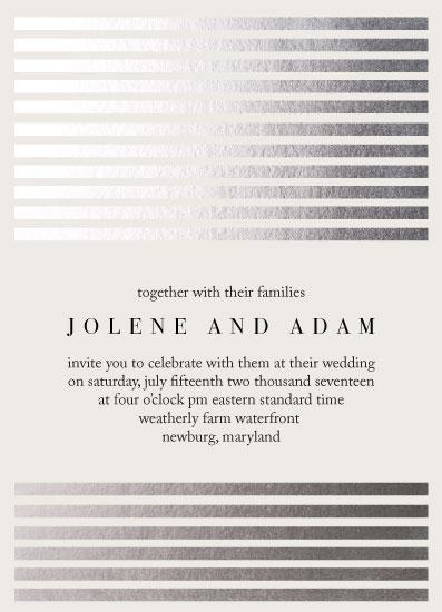wedding invitations - Modern Shimmer by Larissa Bahler