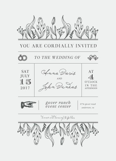 wedding invitations - A Vintage Affair by Jessica Voong