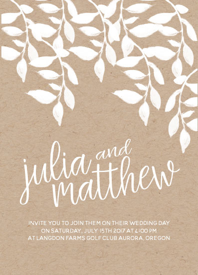 wedding invitations - Rustic Chic Floral by Larissa Bahler