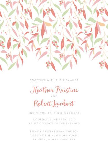 wedding invitations - Floral Canopy by ashnee eiram