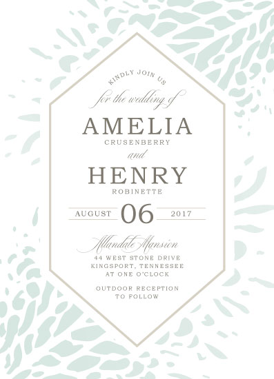 wedding invitations - Efflorescing Print by Carrie Hendrix