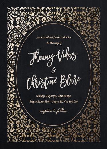 wedding invitations - Windflower-Gold by Elvis John VIllarin