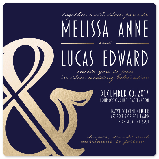 wedding invitations - Ampersand by Melanie Winters