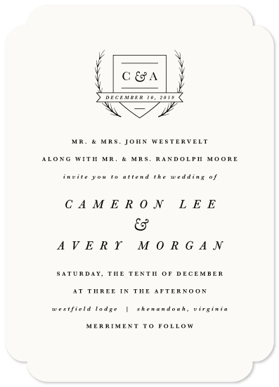 wedding invitations - Astor by carly reed walker