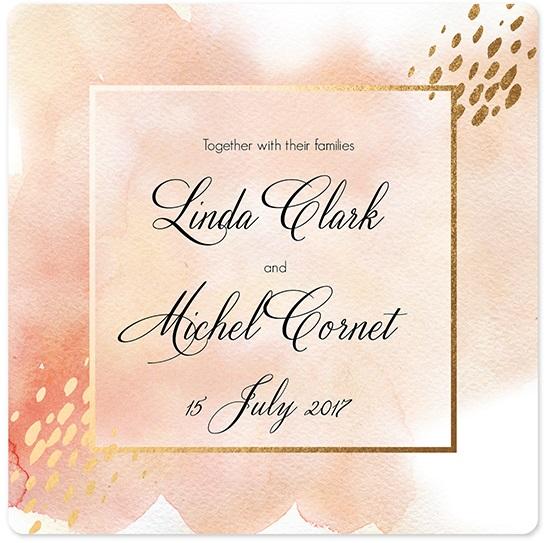 wedding invitations - Blush color card by holaholga