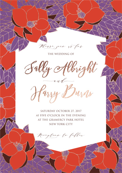 wedding invitations - Vibrant Vintage by Rachel Mense