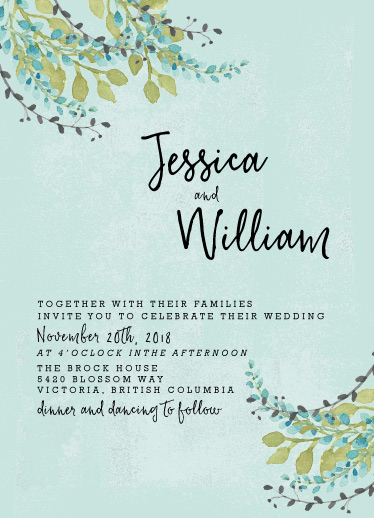 wedding invitations - Sweet Summer Blooms by frances
