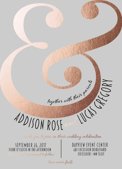wedding invitations - Ampersand Blush by Melanie Winters