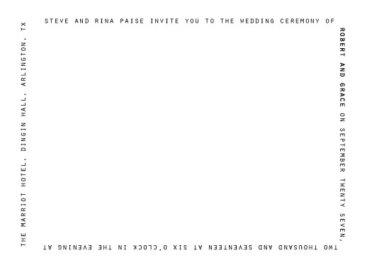 wedding invitations - minimalist text by Concept Designz