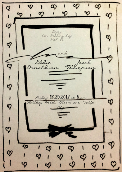 wedding invitations - us in love by Kristina Me