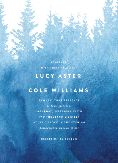 wedding invitations - Misty Forest by Ariel Rutland