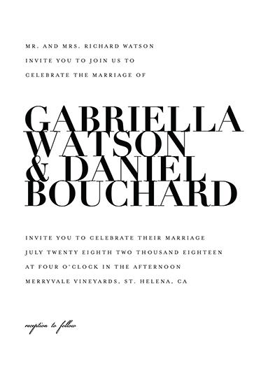 wedding invitations - The Minimalist by Kelly Schmidt