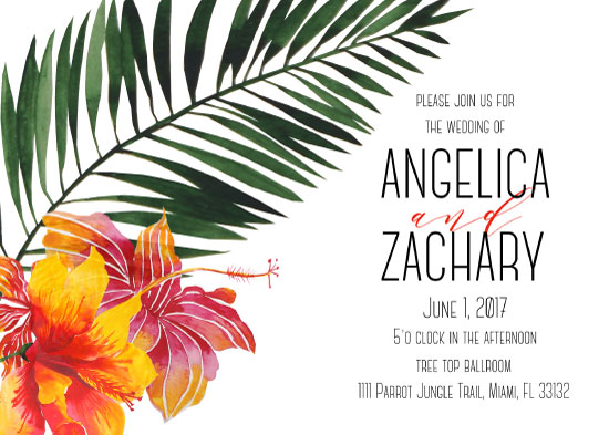 wedding invitations - Tropical Wedding Invitation by Printaholics