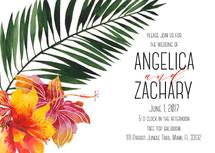 Tropical Wedding Invita... by Printaholics