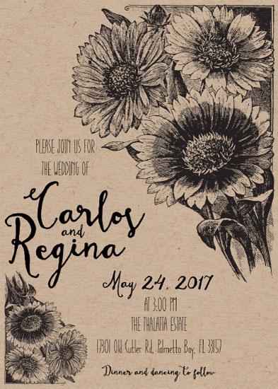 wedding invitations - Sunflower Wedding Invitation by Printaholics
