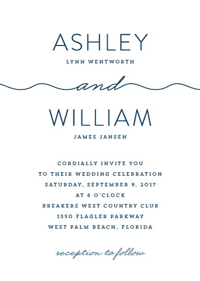 wedding invitations - Skinny Dip by Kim Dietrich Elam