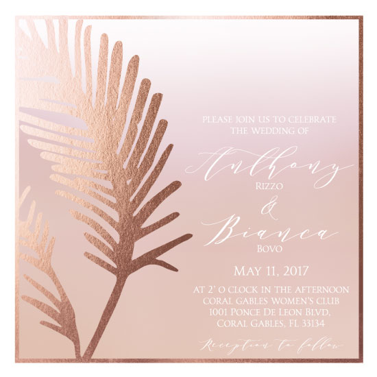 wedding invitations - Feather Wedding Invitation by Printaholics
