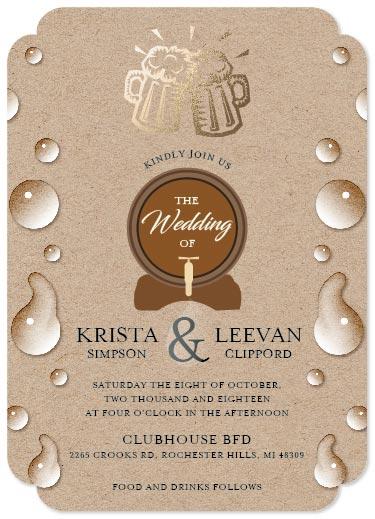 wedding invitations - BEER WEDDING by Onie