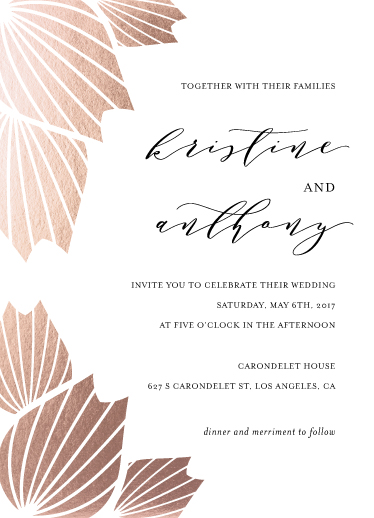 wedding invitations - Anahaw by Marnel