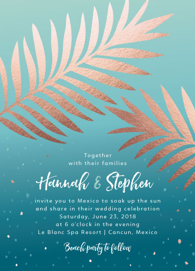 wedding invitations - Palm Impression by Carrie Hendrix