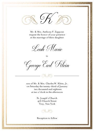 wedding invitations - Formal Affair Monogram by Ashley McCallister