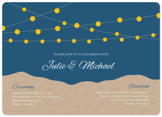 wedding invitations - String Light Mountains by Ashley McCallister