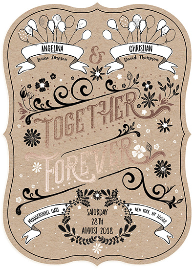 wedding invitations - Retro Together Forever by michael cheung