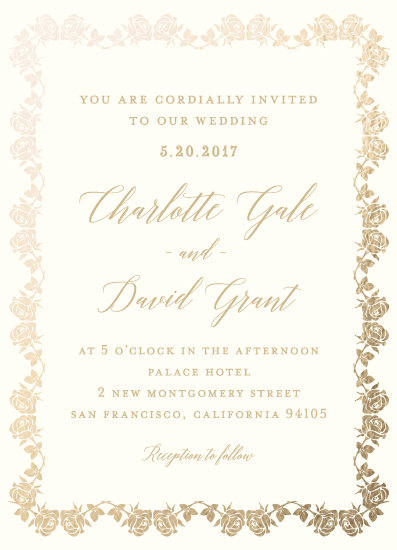 wedding invitations - rose by Ophero