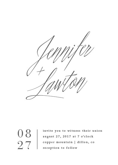 wedding invitations - Stacked date by Amy Kross