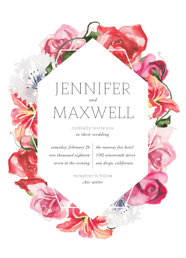 wedding invitations - Bed of roses by Annie Walker