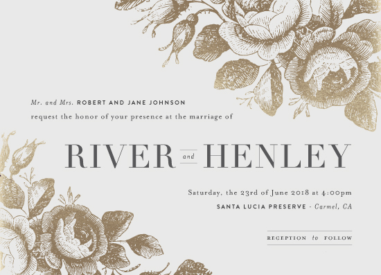 wedding invitations - Beloved by Design Lotus