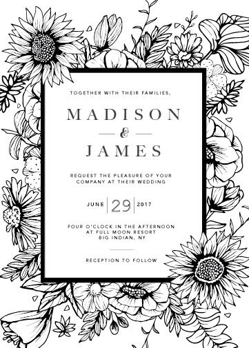 wedding invitations - Garden in Bloom by Sarah Tollin