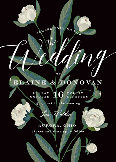 wedding invitations - Elegant Botanical by Chris Griffith