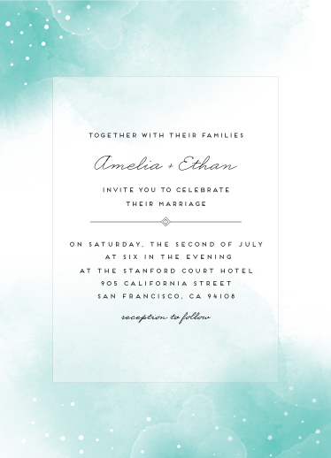 wedding invitations - Watercolored Clouds by Maria Hilas Louie