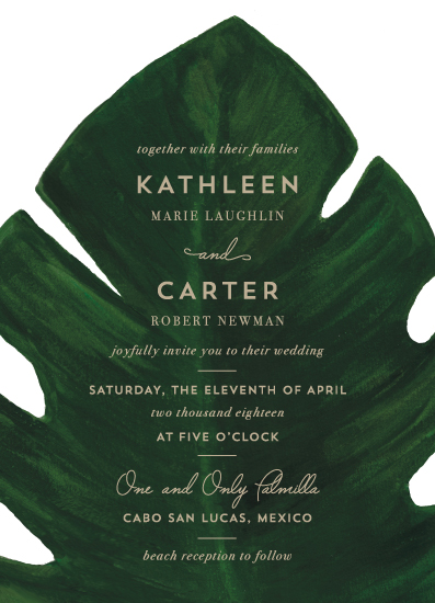 wedding invitations - Palm by Kaydi Bishop