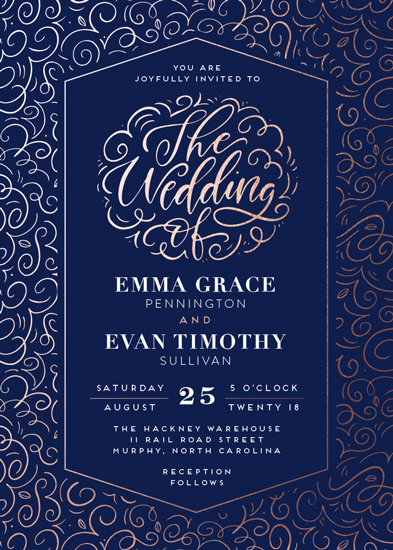 wedding invitations - Flourished Filigree by Laura Bolter Design