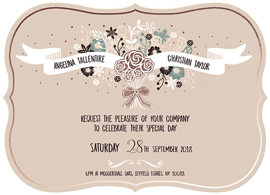 wedding invitations - bouquet banner by michael cheung