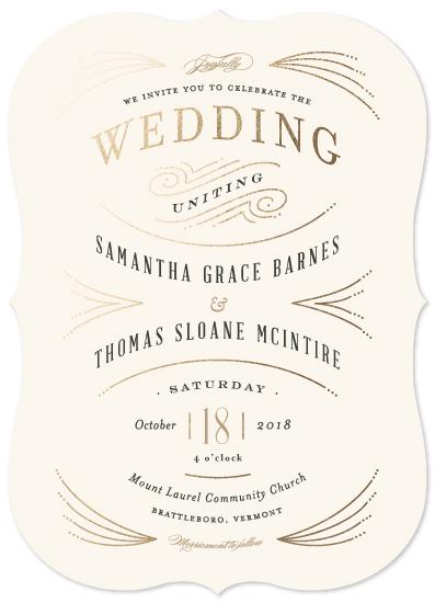wedding invitations - Arched wedding by Jennifer Wick