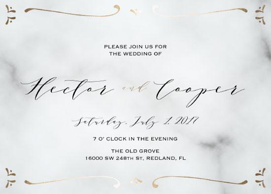 wedding invitations - Marble Wedding Invitation by Printaholics