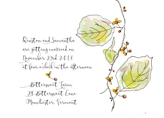 wedding invitations - Bittersweet by jeanne smith