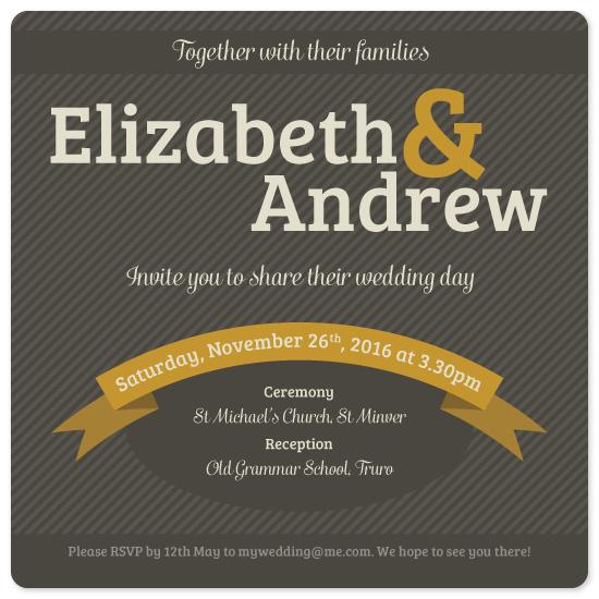 wedding invitations - Striped by Veronica Galbraith