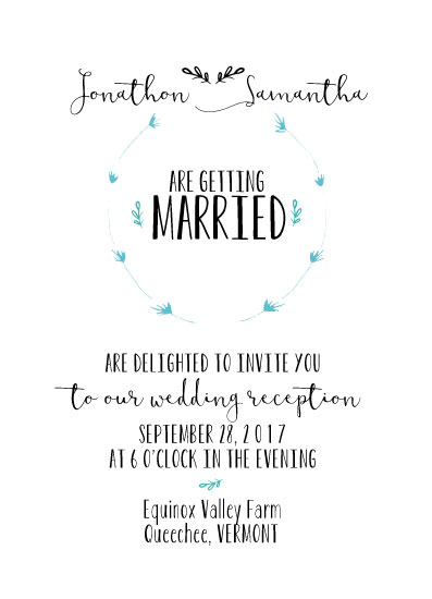 wedding invitations - herb wreath by jeanne smith
