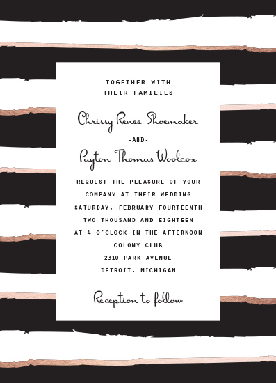 wedding invitations - Modern Stripe Invitation by The Paper Proposal